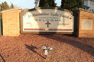 St. Max Kolbe Sign